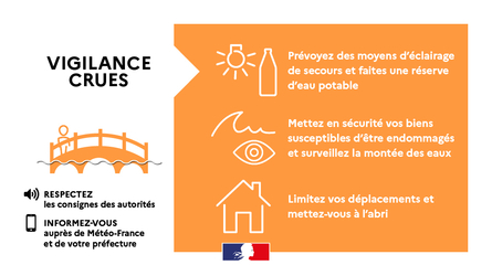 Vigilance orange - Conseils - crues