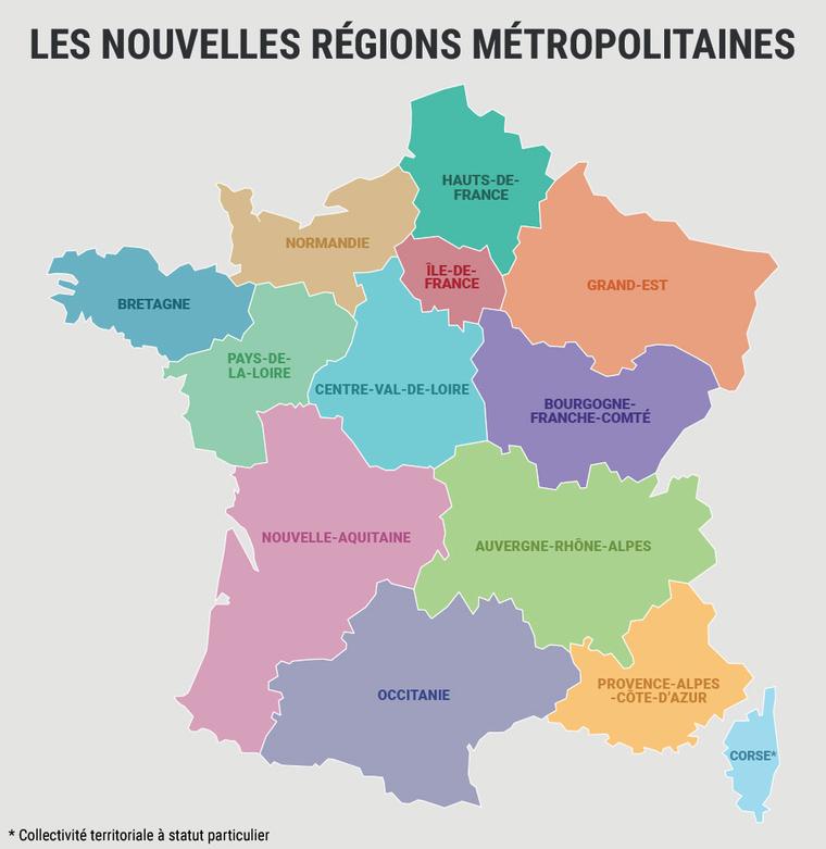 Les noms des nouvelles régions sont actés / L'actu du Ministère ...