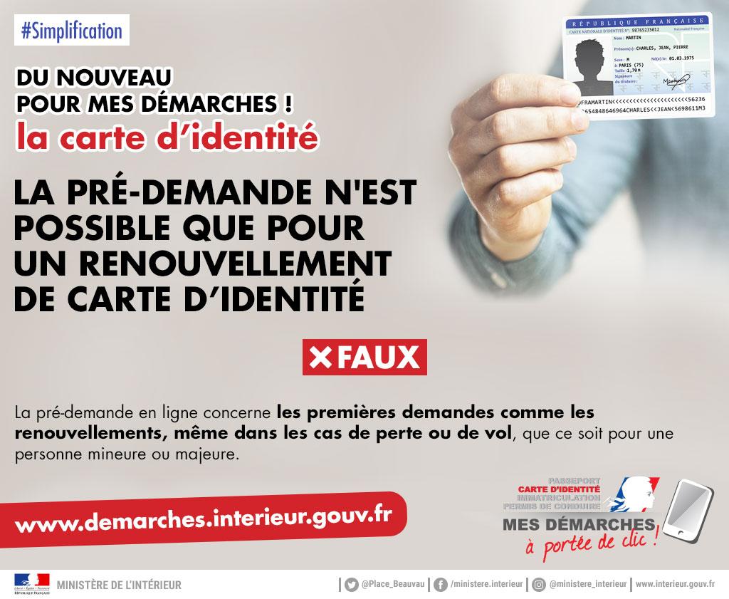 renouvellement carte d identité gouv fr Modernisation de la délivrance de la carte nationale d'identité